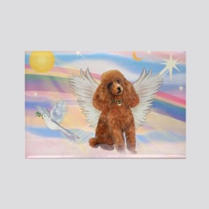 Angel/Poodle (apricot Toy/Min) Rectangle Magnet