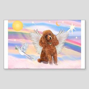 Angel/Poodle (apricot Toy/Min) Rectangle Sticker
