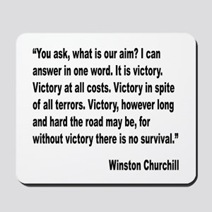 Churchill Victory Quote Mousepad