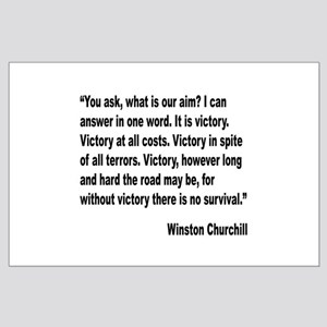 Churchill Victory Quote Large Poster