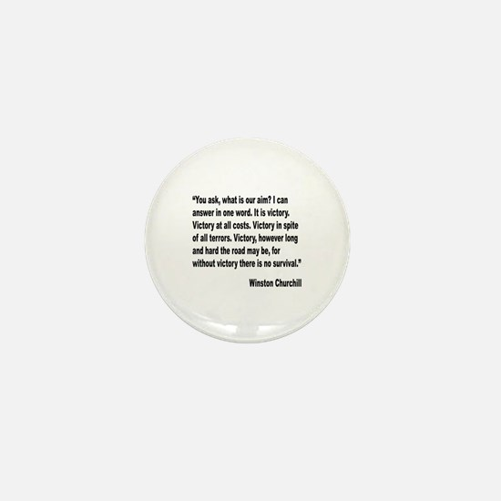 Churchill Victory Quote Mini Button