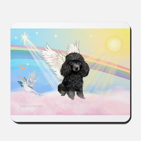 Angel /Poodle (blk Toy/Min) Mousepad