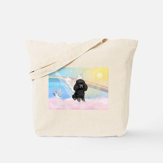 Angel /Poodle (blk Toy/Min) Tote Bag
