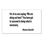 Churchill Necessary Success Quote Sticker (Rectang
