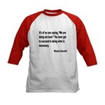 Churchill Necessary Success Quote (Front) Kids Bas