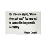 Churchill Necessary Success Quote Rectangle Magnet