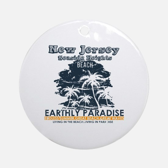Cute Seaside heights Round Ornament