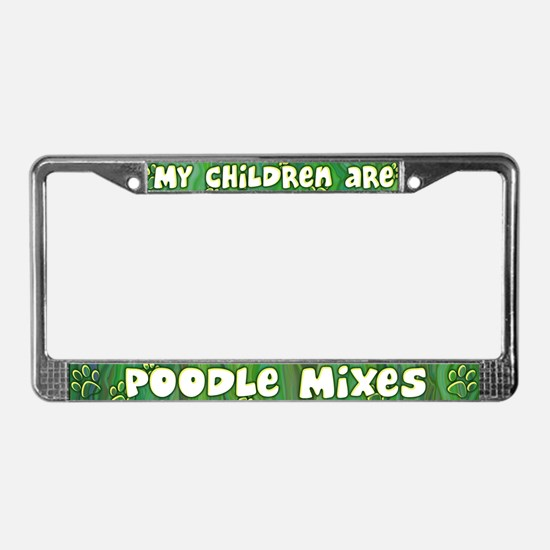 My Children Poodle Mix License Plate Frame