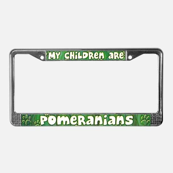 My Children Pomeranian License Plate Frame