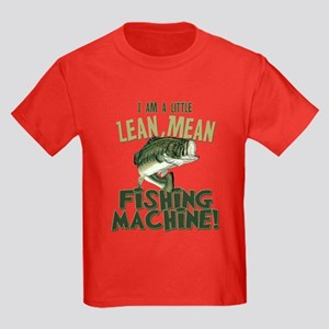 Lean Mean Fishing Machine Kids Dark T-Shirt
