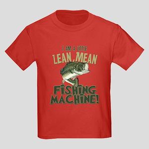 Lean Mean Fishing Machine Kids Dark T-Shirt