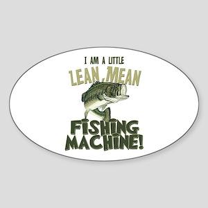 Lean Mean Fishing Machine Oval Sticker