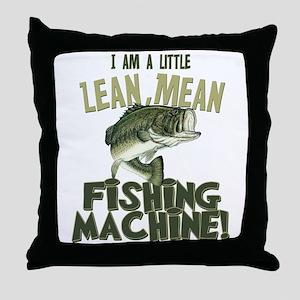 Lean Mean Fishing Machine Throw Pillow