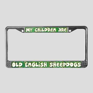 My Children English Sheepdog License Plate Frame