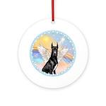 Black Great Dane Angel Ornament (Round)