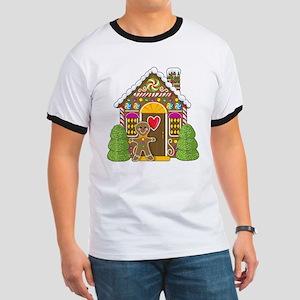 Gingerbread House Ringer T