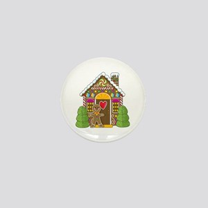 Gingerbread House Mini Button