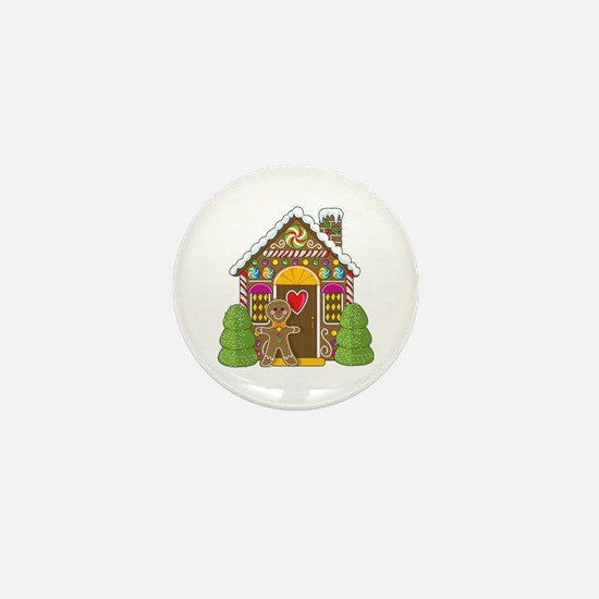 Gingerbread House Mini Button (10 pack)