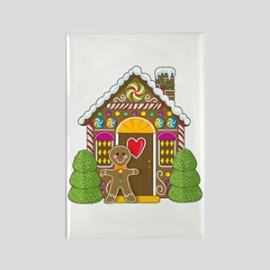 Gingerbread House Rectangle Magnet