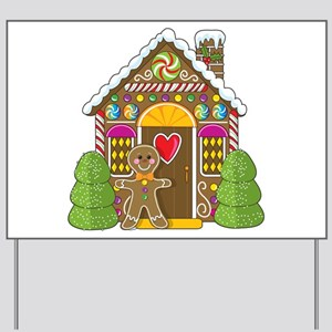 Gingerbread House Yard Sign