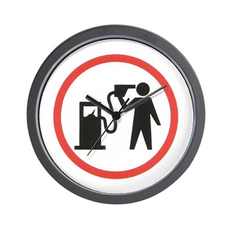 Banksy I Hate Gasoline Wall Clock