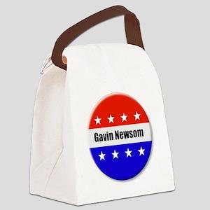 Gavin Newsom Canvas Lunch Bag