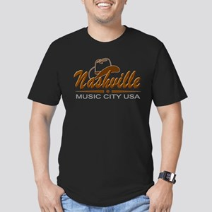 Nashville Music City USA-02 Hoodie Men's Fitted T-