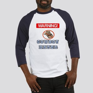 Warning! Cowboy Hater Baseball Jersey