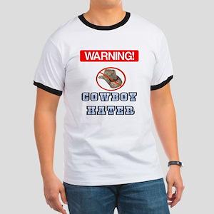 Warning! Cowboy Hater Ringer T