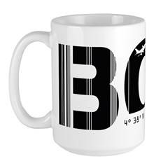 Bogota Airport Code Colombia BOG Large Mug