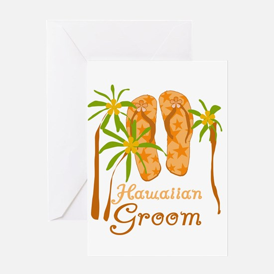 Hawaiian Groom Greeting Card