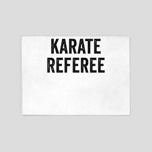 Karate Referee Black Martial Arts G 5'x7'Area Rug
