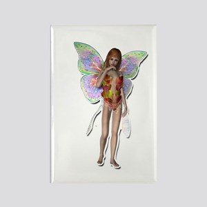 Rainbow colored fairy Rectangle Magnet