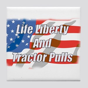 American Tractor Pulls Tile Coaster
