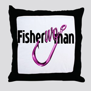 FisherWoman Throw Pillow