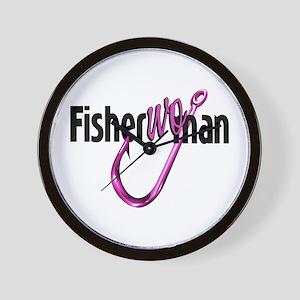 FisherWoman Wall Clock