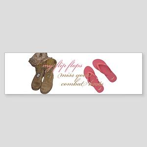 Boots & Flip Flops Bumper Sticker (10 pk)