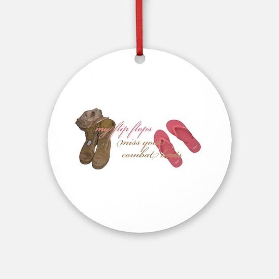 Boots & Flip Flops Ornament (Round)