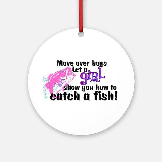 Move Over Boys - Fish Ornament (Round)