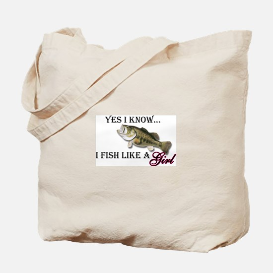 Fish like a girl Tote Bag