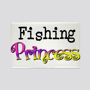 Fishing Princess Rectangle Magnet