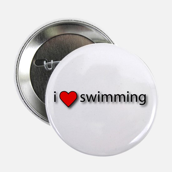 I love swimming Button