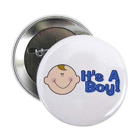 It's A Boy Baby Announcement Button