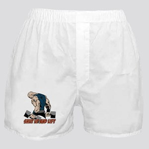 Shut Up and Lift Weightlifter Boxer Shorts