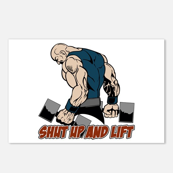 Shut Up and Lift Weightli Postcards (Package of 8)