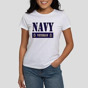 Navy Veteran Block Women's T-Shirt