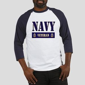 Navy Veteran Block Baseball Jersey