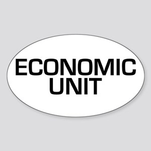 Economic Unit Oval Sticker