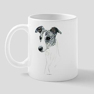 Brindle Whippet Portrait Mug