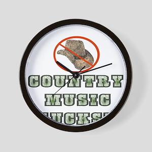 Country Music Sucks! Wall Clock